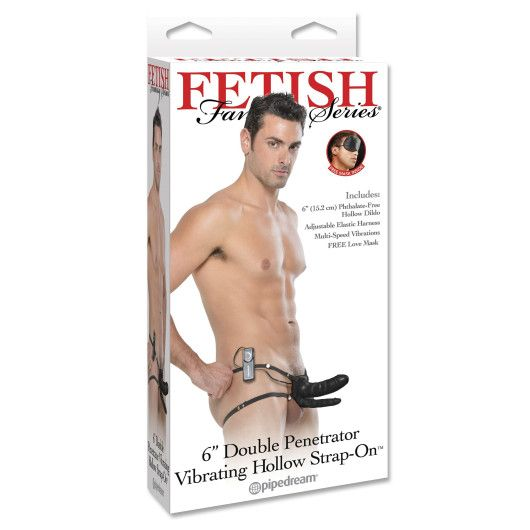Fetish Fantasy Vibrerende Dobbelt Hollow Strap-on