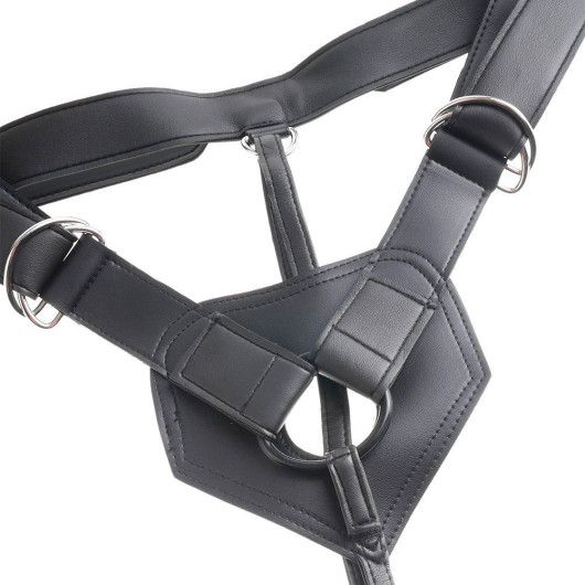 """King Cock Strap-On Harness M/8"""" Dildo"""