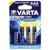 VARTA high energy aaa batterier 4st.
